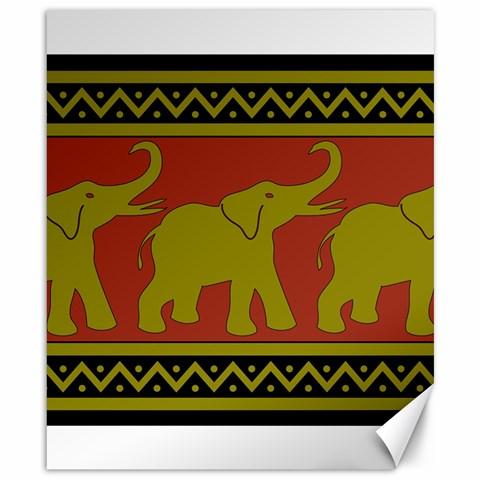Elephant Pattern Canvas 8  x 10