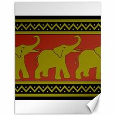 Elephant Pattern Canvas 12  x 16