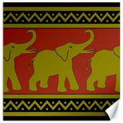 Elephant Pattern Canvas 16  x 16