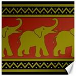 Elephant Pattern Canvas 16  x 16   16 x16 Canvas - 1