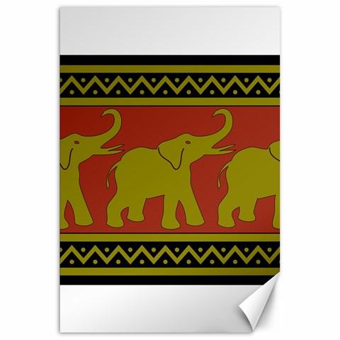 Elephant Pattern Canvas 20  x 30