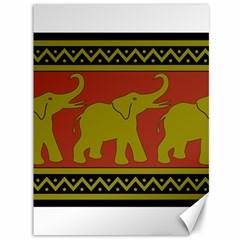 Elephant Pattern Canvas 36  x 48