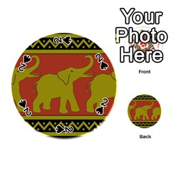 Elephant Pattern Playing Cards 54 (Round)