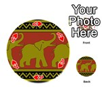 Elephant Pattern Playing Cards 54 (Round)  Front - HeartA