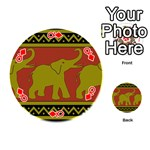 Elephant Pattern Playing Cards 54 (Round)  Front - DiamondQ