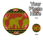 Elephant Pattern Playing Cards 54 (Round)  Front - DiamondK