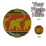 Elephant Pattern Playing Cards 54 (Round)  Front - Joker1