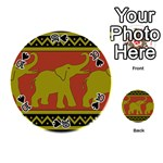 Elephant Pattern Playing Cards 54 (Round)  Front - Spade10