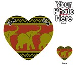 Elephant Pattern Playing Cards 54 (Heart)  Front - Spade10