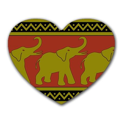 Elephant Pattern Heart Mousepads