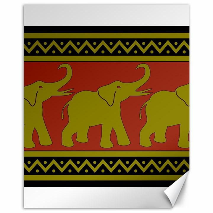 Elephant Pattern Canvas 11  x 14