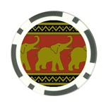 Elephant Pattern Poker Chip Card Guards Front
