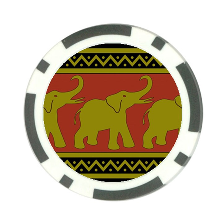 Elephant Pattern Poker Chip Card Guards