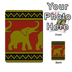 Elephant Pattern Multi-purpose Cards (Rectangle)