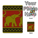 Elephant Pattern Multi-purpose Cards (Rectangle)  Back 37
