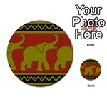 Elephant Pattern Multi-purpose Cards (Round)  Front 2