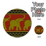 Elephant Pattern Multi-purpose Cards (Round)  Back 16