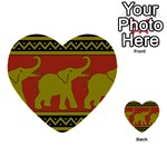 Elephant Pattern Multi-purpose Cards (Heart)  Front 34
