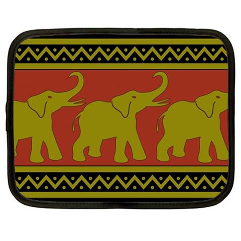 Elephant Pattern Netbook Case (Large)