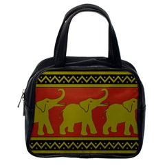 Elephant Pattern Classic Handbags (One Side)
