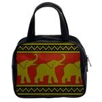 Elephant Pattern Classic Handbags (2 Sides) Front