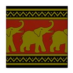 Elephant Pattern Face Towel Front