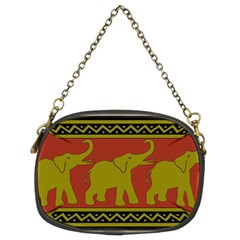 Elephant Pattern Chain Purses (Two Sides)