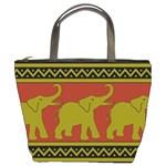 Elephant Pattern Bucket Bags Front