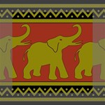Elephant Pattern Mini Canvas 6  x 6  6  x 6  x 0.875  Stretched Canvas