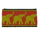 Elephant Pattern Pencil Cases Front