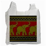 Elephant Pattern Recycle Bag (Two Side)  Front