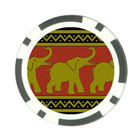 Elephant Pattern Poker Chip Card Guards (10 pack)