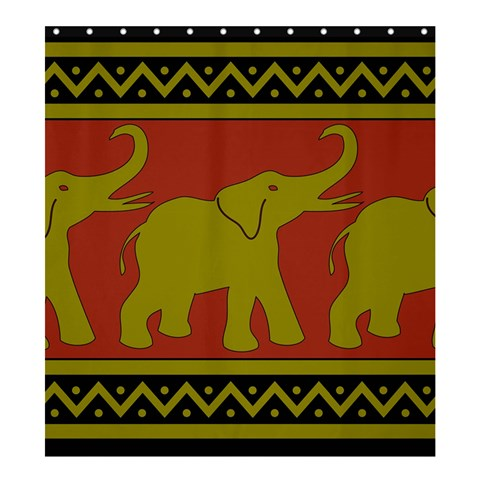 Elephant Pattern Shower Curtain 66  x 72  (Large)