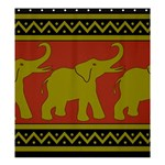 Elephant Pattern Shower Curtain 66  x 72  (Large)  58.75 x64.8 Curtain