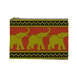 Elephant Pattern Cosmetic Bag (Large)  Front
