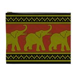 Elephant Pattern Cosmetic Bag (XL) Front