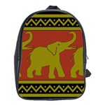Elephant Pattern School Bags(Large)  Front