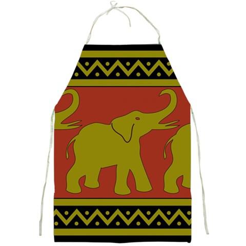 Elephant Pattern Full Print Aprons
