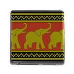 Elephant Pattern Memory Card Reader (Square) Front