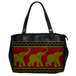 Elephant Pattern Office Handbags Front