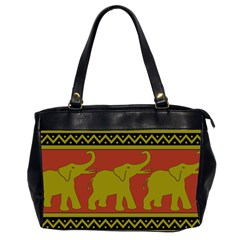 Elephant Pattern Office Handbags (2 Sides)