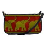 Elephant Pattern Shoulder Clutch Bags Front