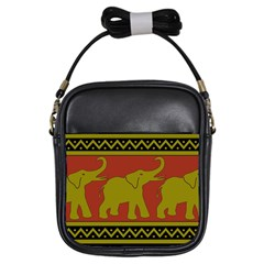 Elephant Pattern Girls Sling Bags