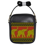 Elephant Pattern Girls Sling Bags Front