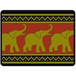 Elephant Pattern Fleece Blanket (Large)  80 x60 Blanket Front
