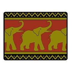 Elephant Pattern Fleece Blanket (Small)