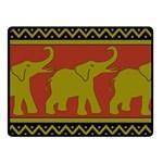 Elephant Pattern Fleece Blanket (Small) 50 x40 Blanket Front