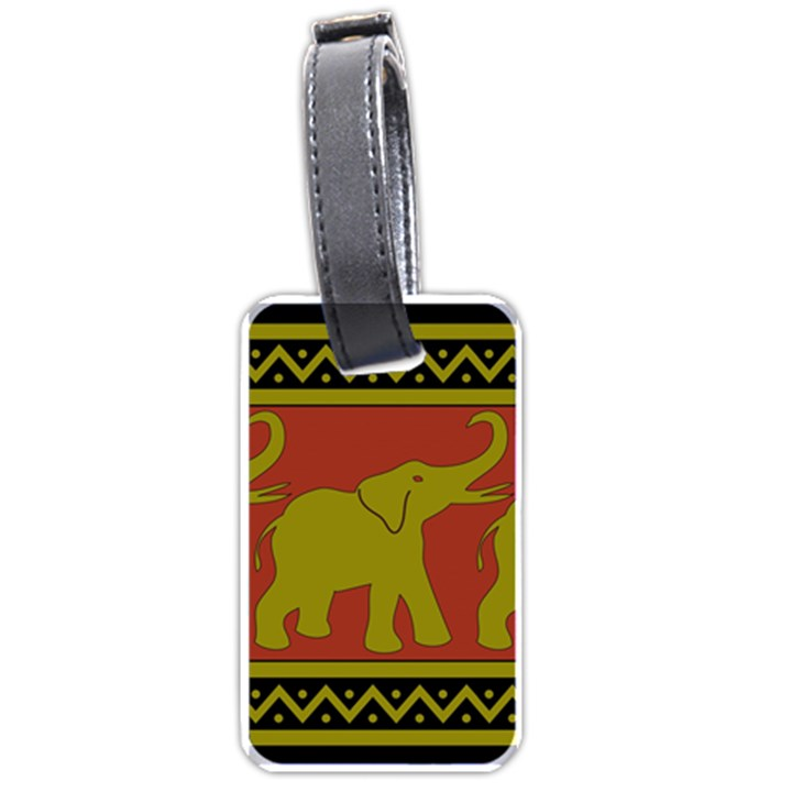 Elephant Pattern Luggage Tags (One Side)