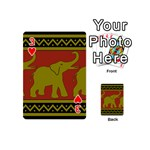 Elephant Pattern Playing Cards 54 (Mini)  Front - Heart3