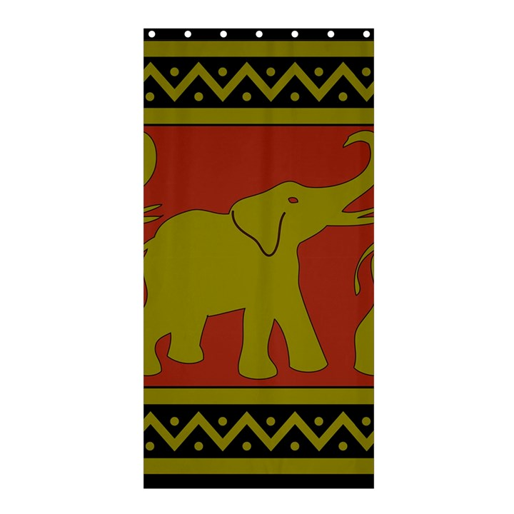 Elephant Pattern Shower Curtain 36  x 72  (Stall)